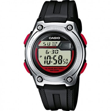 Casio Mens Digital LCD Watch Chronograph Alarm Dual Time W-211-1BVES