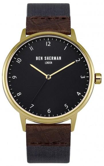 Ben Sherman Mens Watch Blue Strap Black Dial WB049UG