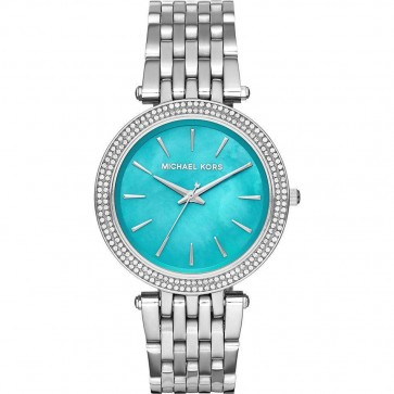 Michael Kors Ladies Darci Capri Watch Stainless Steel Turquoise Dial MK3515
