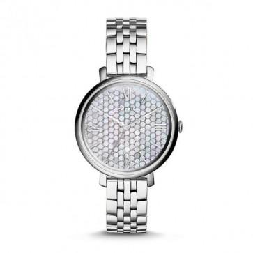 Fossil Ladies Jaqueline Watch Stainless Steel Bracelet Silver Dial ES3803