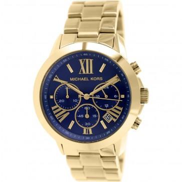 Michael Kors Bradshaw Ladies Chronongraph Watch Gold Bracelet Blue Face MK5923