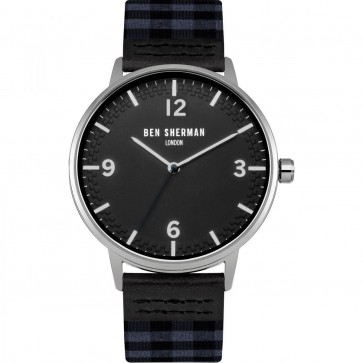 Ben Sherman Mens Watch Portobello Gingham Black WB062UE