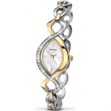 Sekonda Ladies Womens  Wrist Watch Silver Dial Metal Strap 2017