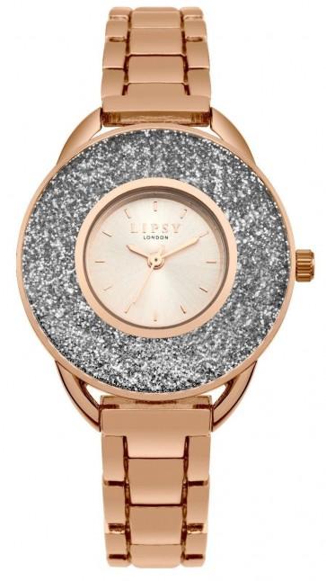 Lipsy Womens Ladies  Wrist Watch Gold Dial Bracelet SLP010RGM