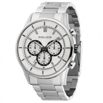 Police Mens Gents Mens Rush Chronograph Wrist Watch Silver Dial 15001JS/04M