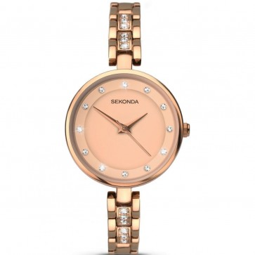 Sekonda Ladies Womens Wrist Watch Rose Gold Dial Rose Gold Strap 2385
