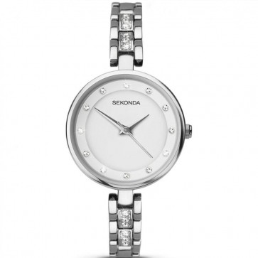 Sekonda Ladies Womens Wrist Watch White Dial SilverStrap 2383