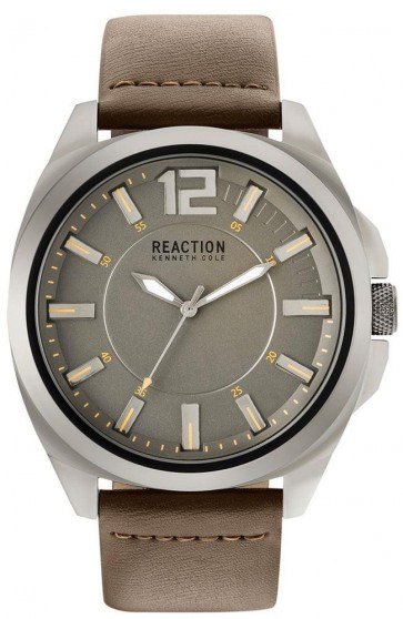 Kenneth Cole Reaction Black & Brown Mens Gents Wrist Watch RK50344004