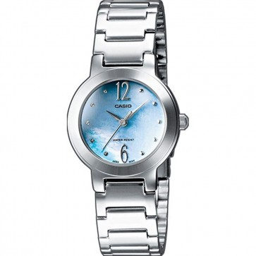 Casio Ladies Watch Stainless Steel Bracelet Blue Face LTP-1282PD-2AEF