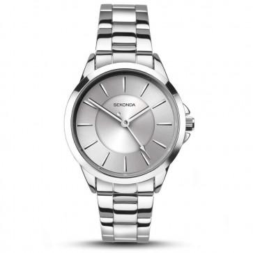 Sekonda Ladies Womens Wrist Watch Silver Face Metal Strap Dial 2455