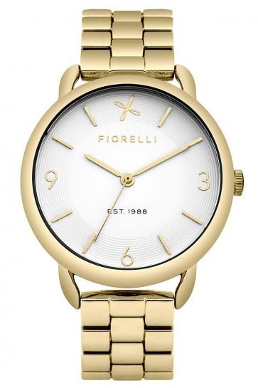 Fiorelli Ladies Watch Gold Bracelet White Dial FO023GM
