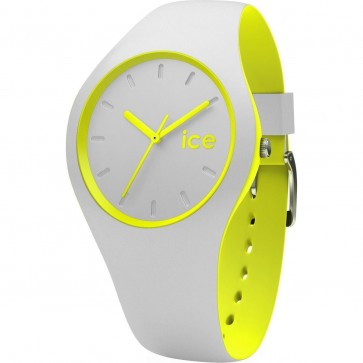 ICE Ladies Womens Ice Watch Watch Duo Grey-Yellow Grey Silicone Strap  001500