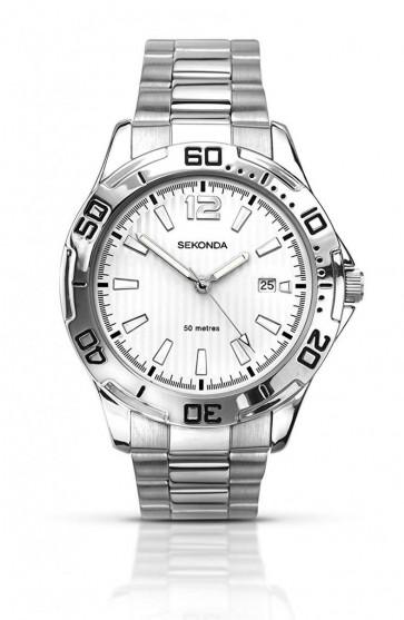 Sekonda 3531 Gent's Silver Tone Watch