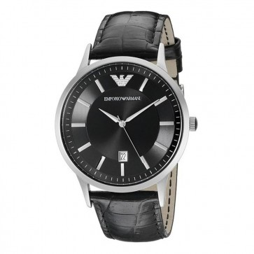 Emporio Armani Men's Emporio Armani Black Leather Strap Watch AR2411