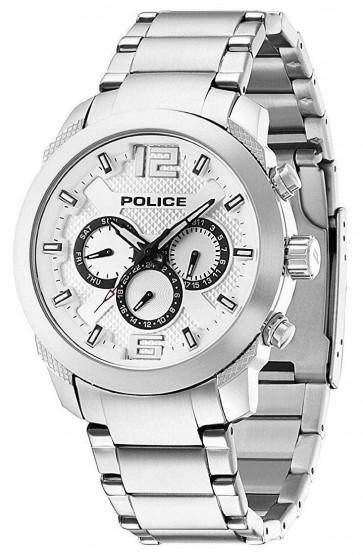 Police Triumph Mens Gents Quartz Watch Silver Dial Chronograph 13934JS/04