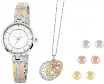 Pierre Cardin Ladies Womens Watch & Jewellery Set PCX5112L218