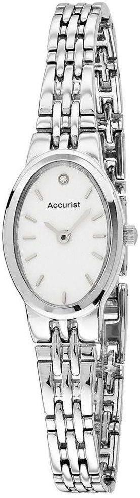 Accurist Ladies Watch White Dial Stainless Steel Bracelet LB1338W