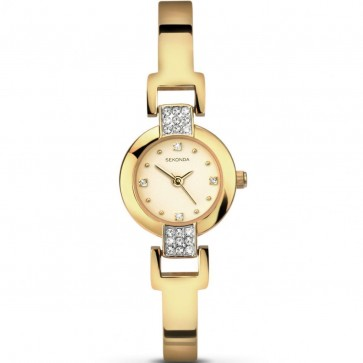 Sekonda Ladies Womens Wrist Watch Gold Face Strap 2394