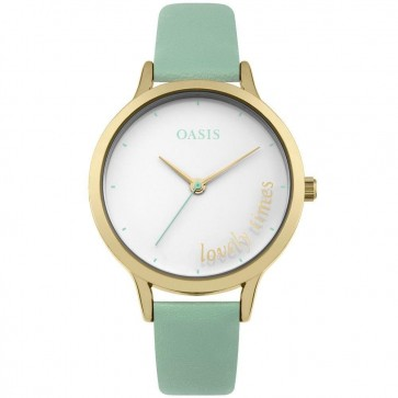 Oasis Ladies Womens Watch Pink Strap White Face  B1555