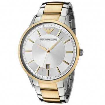 Emporio Armani Mens Two-Tone Gold & Silver Stainless Steel Watch AR2449