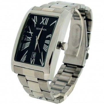 Sekonda Mens Watch Stainless Steel Bracelet Black Dial 3634