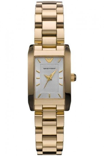 Emporio Armani Ladies Watch Gold Bracelet Gold Dial AR0360