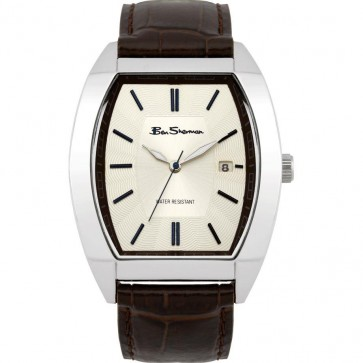 Ben Sherman Mens Gents Watch Brown Strap Beige Dial R955A