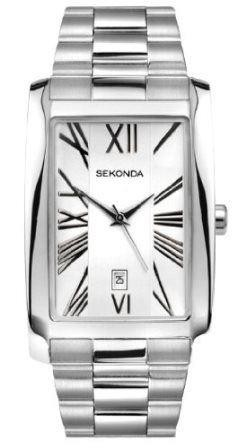 Sekonda Men's Quartz Watch with Silver Dial Analogue Display and Silver Stainles