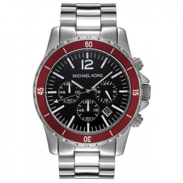 Michael Kors Mens Chronograph Watch Stainless Steel Bracelet Black Dial MK8122