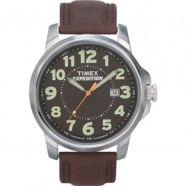 Timex Mens Gents Indigo Quartz Watch With Brown Leather Strap T44921