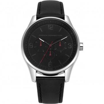 French Connection Mens Multi Dial Quartz Wrist Watch Leather Strap FC1307B