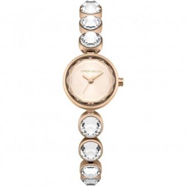 Karen Millen Womens Ladies Wrist Watch White Strap KM149RGM