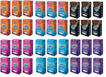 72  Skins Condoms Chocolate XL Assorted Ultra Thin Dots & Ribs