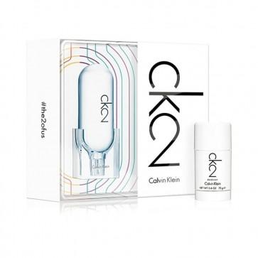 Calvin Klein Unisex CK2 Gift Set 100ml EDT + 75ml Deodorant Stick