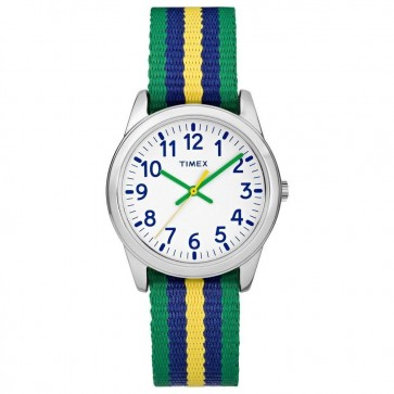 Timex Women's Ladies Childrens Quartz Watch With Multicolour Strap TW7C10100