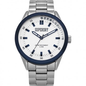 Superdry Mens Gents Regent Corporal Silver Wrist Watch SYG207WSM