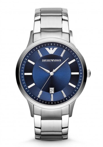 Emporio Armani Mens Watch Stainless Steel Blue Dial AR2477