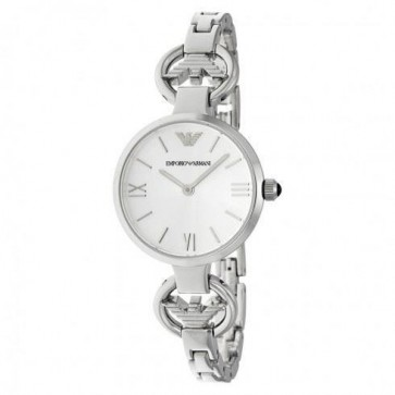 Emporio Armani Ladies Watch Stainless Steel Strap Silver Dial AR1772