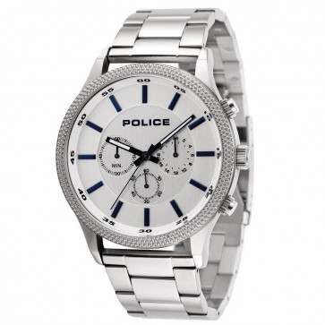 Police Mens Gents Mens Pace Chronograph Wrist Watch Silver Dial 15002JS/04M