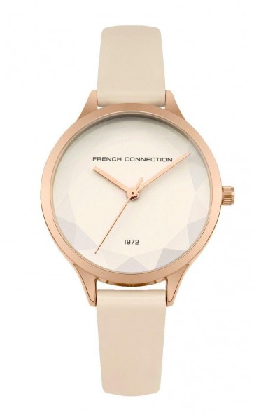 French Connection Womens Ladies Wrist Watch Cream Strap Cream Dial SFC122CRG