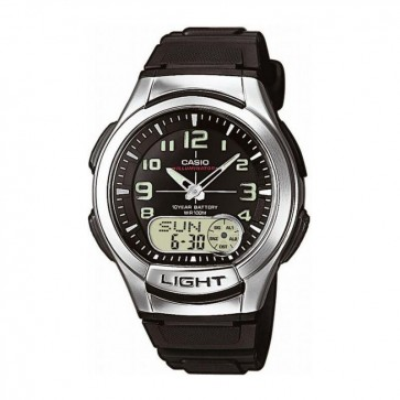 Casio Mens Watch Alarm Chronograph Resin Strap AQ-180W-1BVES