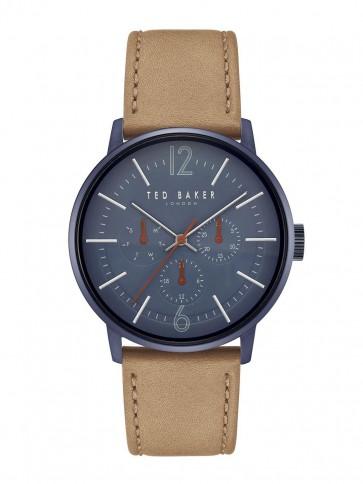 Ted Baker Blue Brown Mens Gents Wrist Watch TE15066006