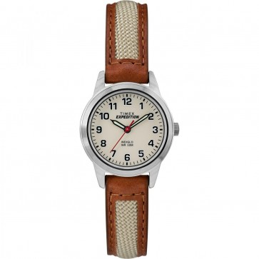 Timex Women's Ladie's Quartz Watch With Cream Dial Brown Strap TW4B11900
