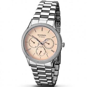 Sekonda Mens Watch Stainless Steel Bracelet Pink Dial 2091