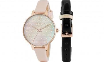 Ted Baker  Ladies Womens Dual Strasp Wrist Watch TE50013001