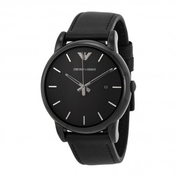 Emporio Armani Mens Watch Stainless Steel Bracelet Black Dial AR1732