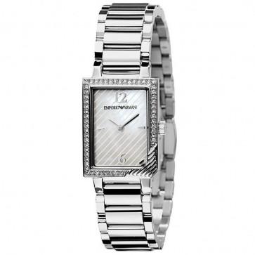 Emporio Armani Ladies Watch Stainless Steel Bracelet Silver Dial AR0758