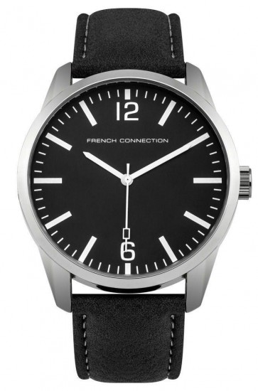 French Connection Mens Gents Wrist Watch Black Strap Black Dial SFC117BB