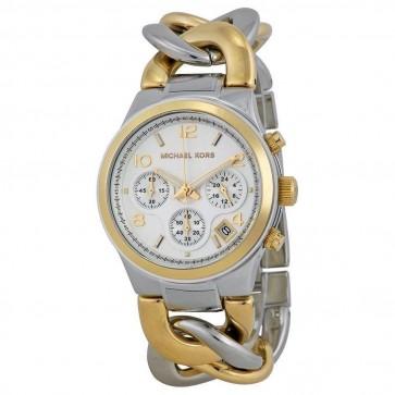 Michael Kors Ladies RunwayTwist Chain Chronograph  Case Ladies Watch MK3199