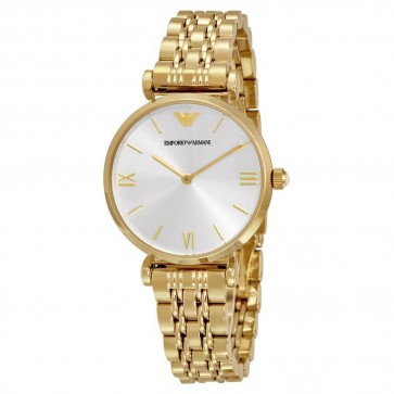 Emporio Armani Ladies Watch Gold Tone Stainless Steel AR1877